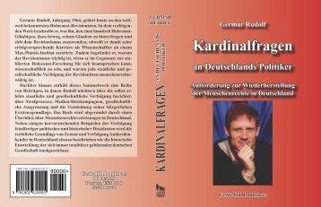Germar Rudolf Kardinalfragen an Deutschlands ... - Weltordnung.ch
