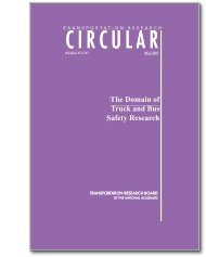 The Domain of Truck and Bus Safety Research - Transportation ...