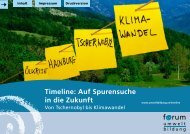 Timeline: Auf Spurensuche in die Zukunft - Forum Umweltbildung
