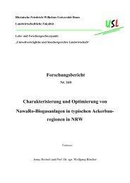 Forschungsbericht Charakterisierung und Optimierung von NawaRo ...