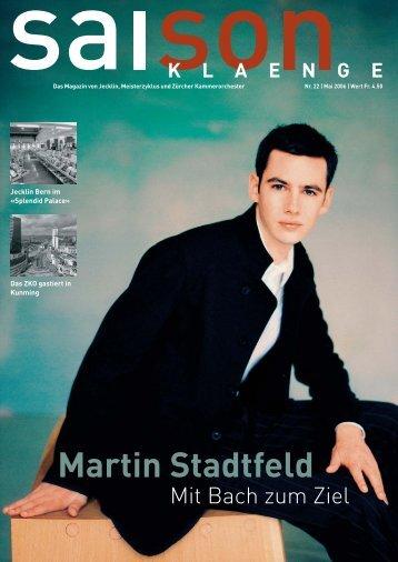 Martin Stadtfeld - Jecklin & Co. AG