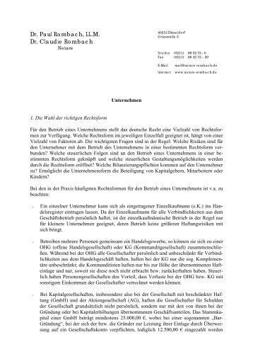 Dr. Paul Rombach, LL.M. Dr. Claudie Rombach - Notare Dr. Paul ...