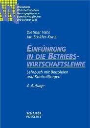 Einführung in die Betriebswirtschaftslehre - Inhaltsverzeichnis