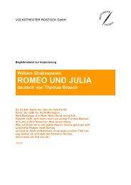 ROMEO UND JULIA - Volkstheater Rostock