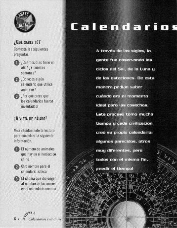 Page 2 El calendario azteca La