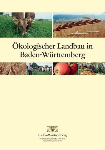 Ökologischer Landbau in Baden-Württemberg