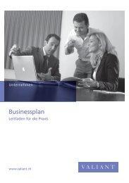 Prospekt Business-Plan - Valiant Bank
