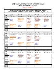 Calendario Medicina Unict.Calendario Lezioni I Semestre Medicina