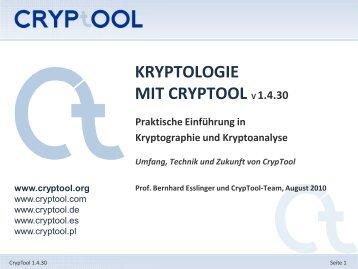 1. Offizielle Präsentation - CrypTool