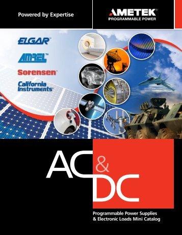 DC Product Selector Guide - AMETEK Programmable Power