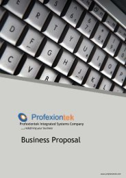 Business Proposal - Profexiontek Integrated Systems Company