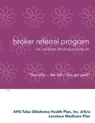 Broker Referral Progam - Lovelace Medicare Advantage Plan