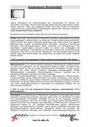 Amphetamin Streckmittel Mai 12 - Saferparty.ch