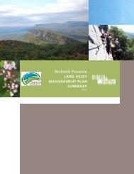 Land Asset Management Plan Summary - Mohonk Preserve