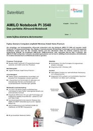 Datenblatt AMILO Notebook Pi 3540