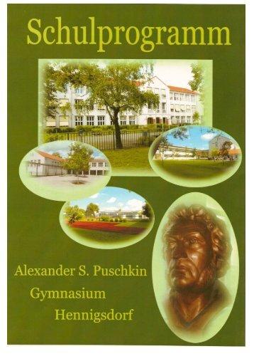 Schulprogramm 2009/2010 - Alexander S. Puschkin Gymnasium ...