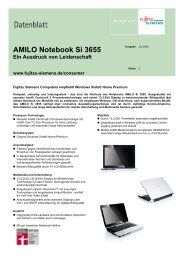 Datenblatt AMILO Notebook Si 3655