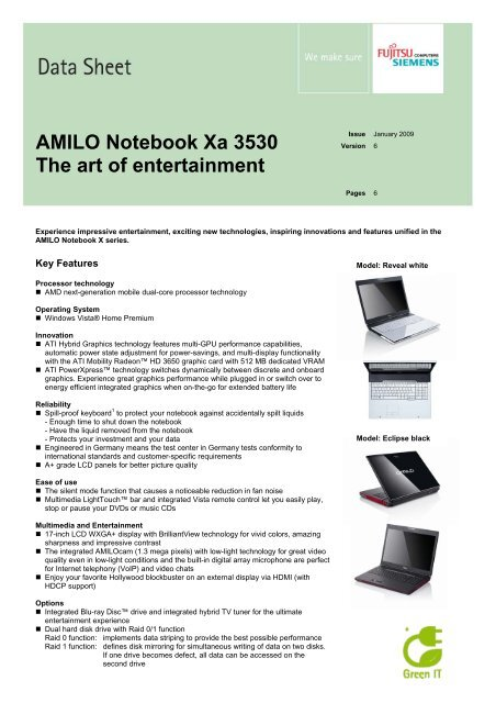 AMILO Notebook Xa 3530 The art of entertainment