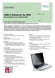 Datenblatt AMILO Notebook Sa 3650