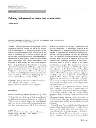 Primary aldosteronism: from bench to bedside - Division of Nephrology