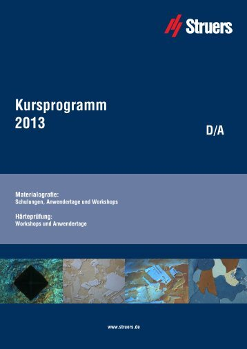 Struers Kursprogramm 2013 PDF Version.indd - Apsis