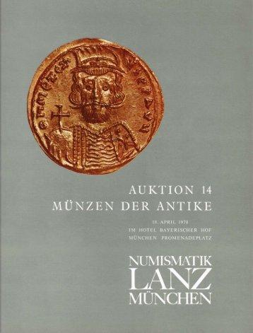 NUMISMATIK LANZ MÃœNCHEN AUKTION 14 - LanzAuctions.com