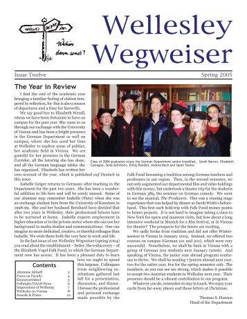 Wegweiser 2005 - Wellesley College
