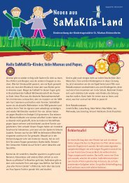 Kindergartenzeitung Juli 2011 - Neues aus Samakita-Land