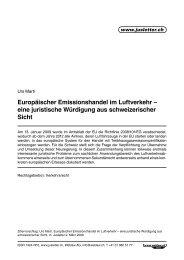 Europäischer Emissionshandel im Luftverkehr ... - Kellerhals Anwälte