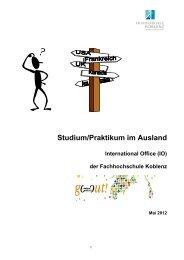Studium/Praktikum im Ausland - Fachhochschule Koblenz