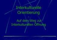 Interkulturelle Orientierung
