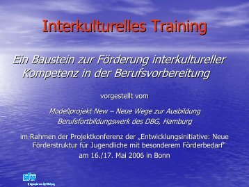 Interkulturelles Training - Ausbildungsvorbereitung