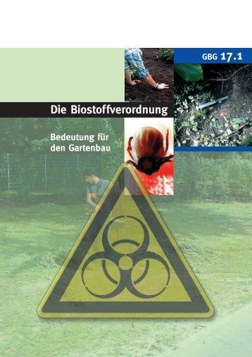 Die Biostoffverordnung - GBG 17.1 - LSV