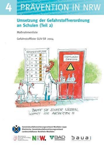 prävention in nrw - Chemie und ihre Didaktik, Universität Wuppertal