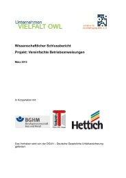 Projekt: Vereinfachte Betriebsanweisungen - Deutsche Gesetzliche ...