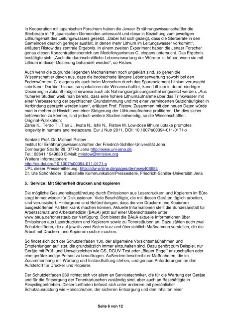 DGAH – Brief Nr. 88 April 2011 - Verband Deutscher Betriebs- und ...