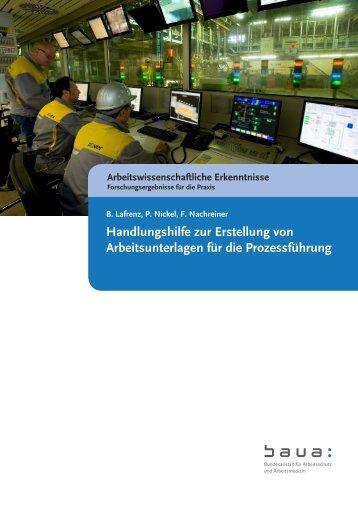 Handlungshilfe zur Erstellung von Arbeitsunterlagen für die ...