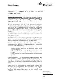 Media Release - Clariant