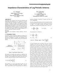 Impedance Characteristics of Log Periodic Antenna - International ...