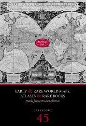 EARLY & RARE WORLD MAPS, ATLASES & RARE ... - Martayan Lan
