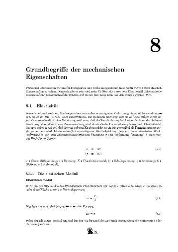 Grundbegriffe der mechanischen Eigenschaften Prinzipiell ...