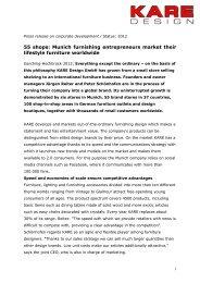 The company - Kare Design OHG