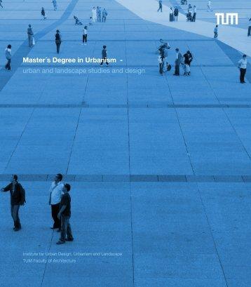 urban and landscape studies and design - Fakultät für Architektur ...