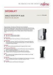 Datenblatt AMILO Desktop Pi 3630 - Fujitsu