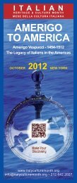 get the 2012 complete program of events - Italy Culture Month