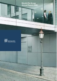 Munich Re Group Annual Report 2006 (PDF, 1.8