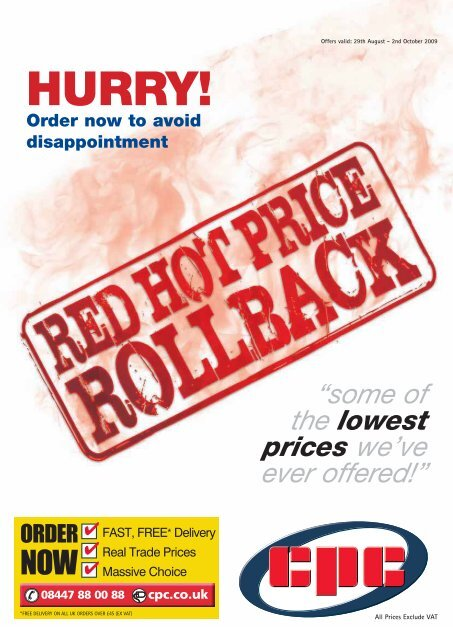 Red Hot Price Rollback Cpc