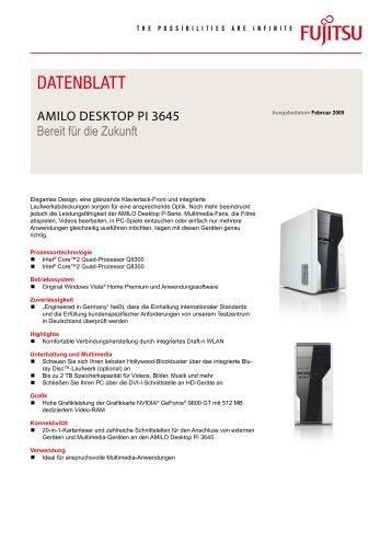 Datenblatt AMILO Desktop Pi 3645 - Fujitsu