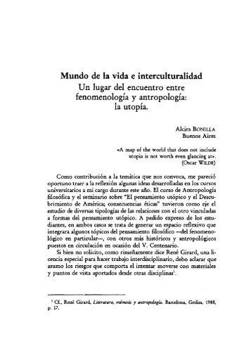 Mundo de la vida e interculturalidad Un lugar del encuentro ... - UNED