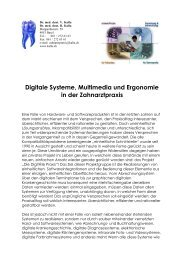 Digitale Systeme, Multimedia und Ergonomie in der Zahnarztpraxis